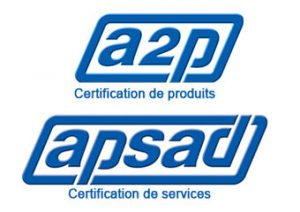 Picto certification a2p apsad